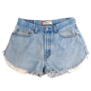 Levi's 505 High Waisted Cut-Off Jean Shorts 33